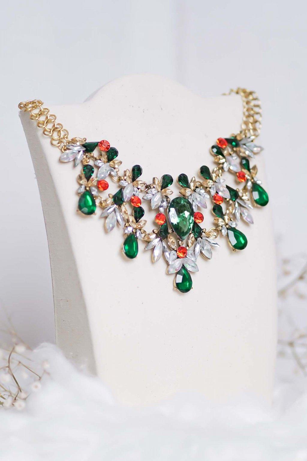 náhrdelník, šperk, spoločenská náhrdelník, náhrdelník na bežný deň, výrazný náhrdelník, jemný náhrdelník, šperky, náhrdelník na ples, svadbu, stužkovú 78