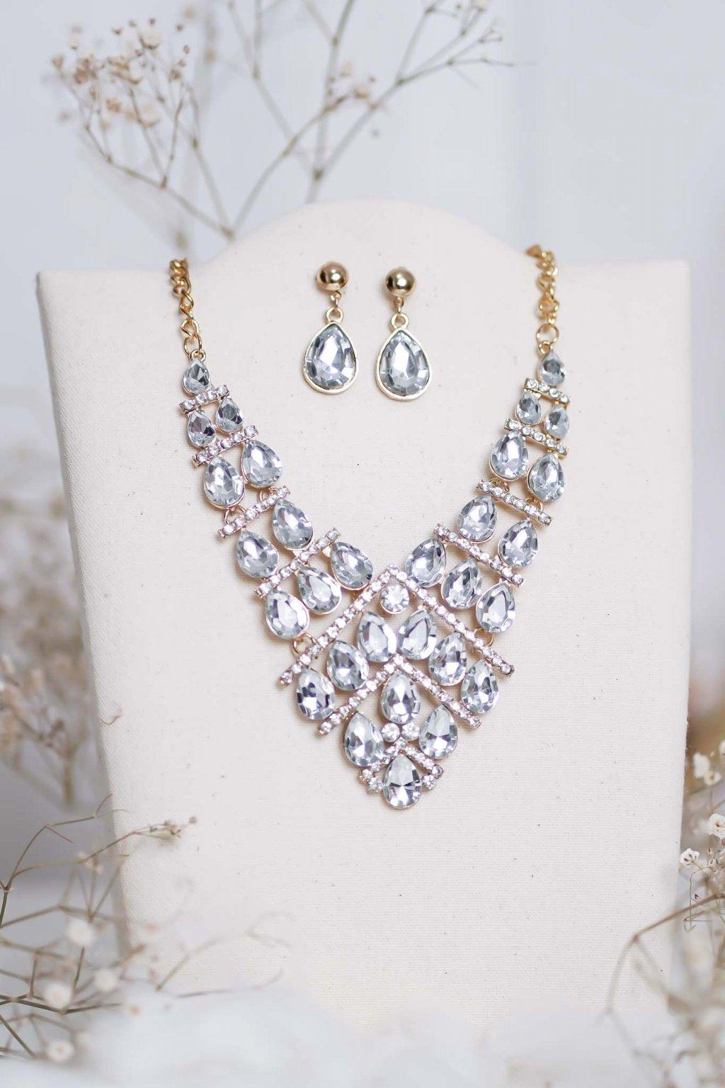 náhrdelník, spoločenský, bežný deň, kamienkový, farebný, čierny, strieborný, zelený, cyklamenévy, náhrdelník, bižuteria, šperk, šperky, ples, stužková, svadba, 055