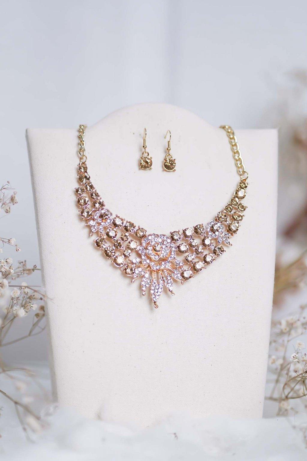 náhrdelník, spoločenský, bežný deň, kamienkový, farebný, čierny, strieborný, zelený, cyklamenévy, náhrdelník, bižuteria, šperk, šperky, ples, stužková, svadba, 090