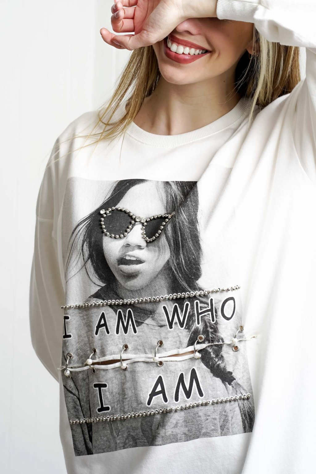 mikina, dámska, oversize, čierna, biela, farebná, športová, elegantná, štýlová, cribs oblečenie, dámske oblečenie, 095