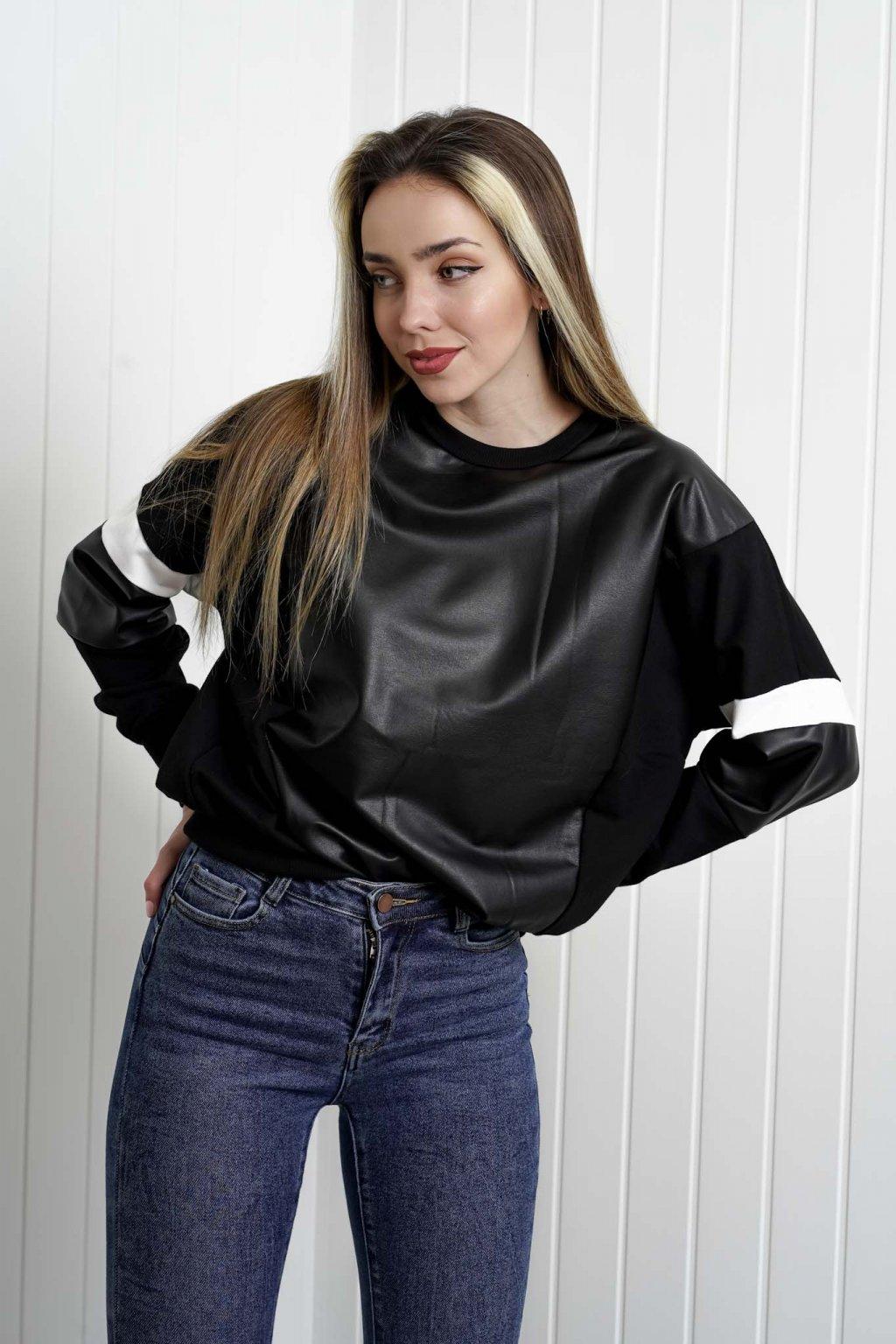 mikina, dámska, oversize, čierna, biela, farebná, športová, elegantná, štýlová, cribs oblečenie, dámske oblečenie, 176