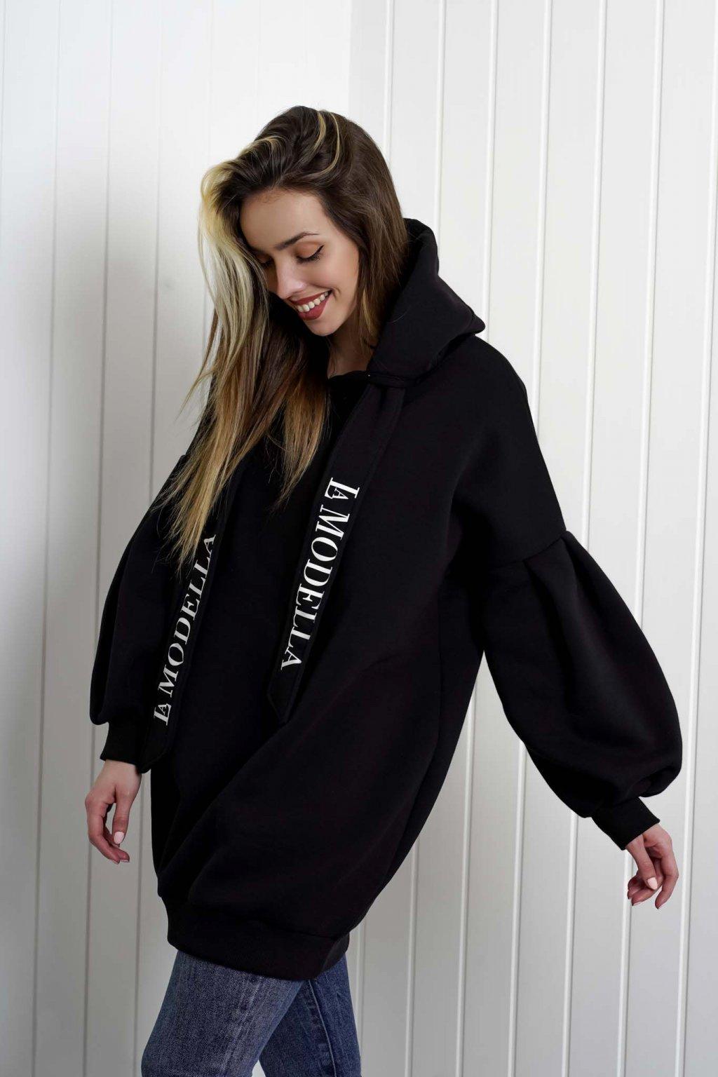 mikina, dámska, oversize, čierna, biela, farebná, športová, elegantná, štýlová, cribs oblečenie, dámske oblečenie, 272