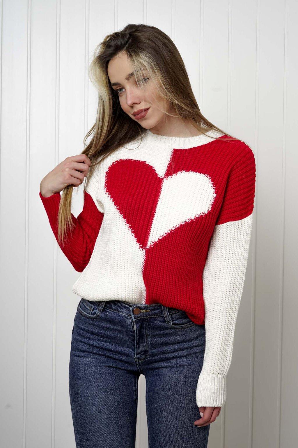 sveter, svetrík, sveter dámsky, úplet, úpletový sveter, jednoduchý sveter, v výstríh, štýlový, chlpatý,vzorovaný, srdiečkový, čierny, biely, farebný, 048