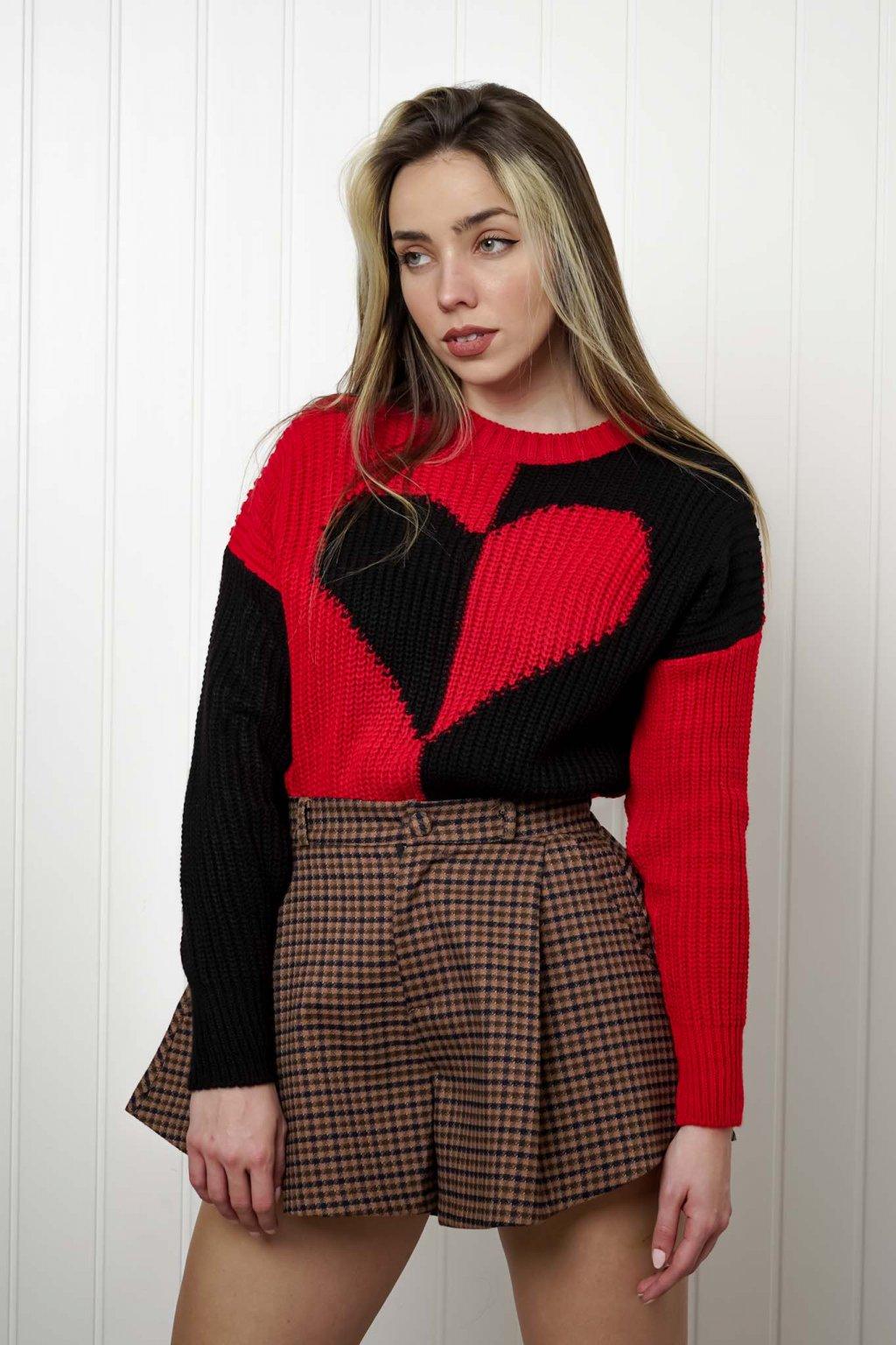 sveter, svetrík, sveter dámsky, úplet, úpletový sveter, jednoduchý sveter, v výstríh, štýlový, chlpatý,vzorovaný, srdiečkový, čierny, biely, farebný, 051