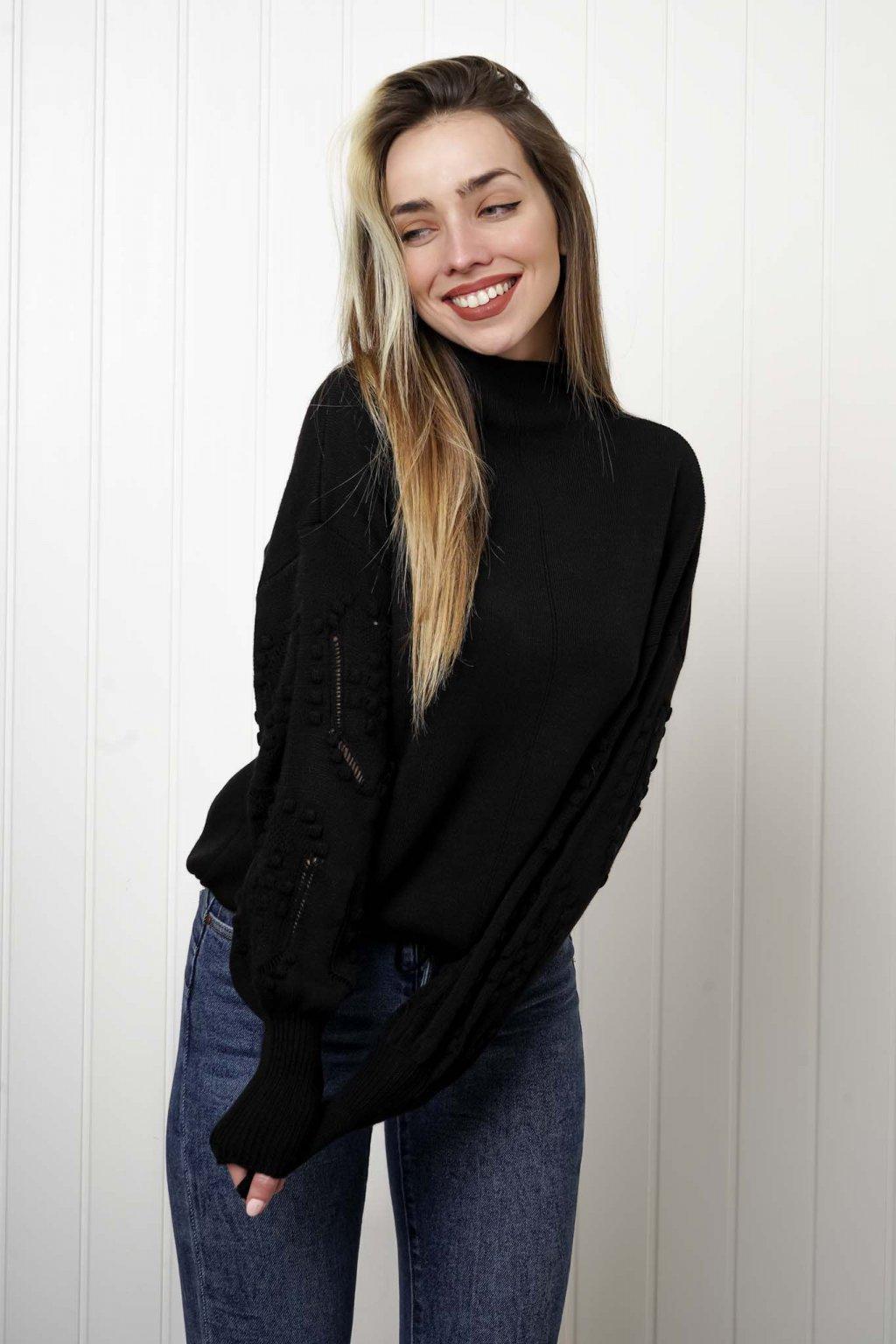 sveter, svetrík, sveter dámsky, úplet, úpletový sveter, jednoduchý sveter, v výstríh, štýlový, chlpatý,vzorovaný, srdiečkový, čierny, biely, farebný, 127