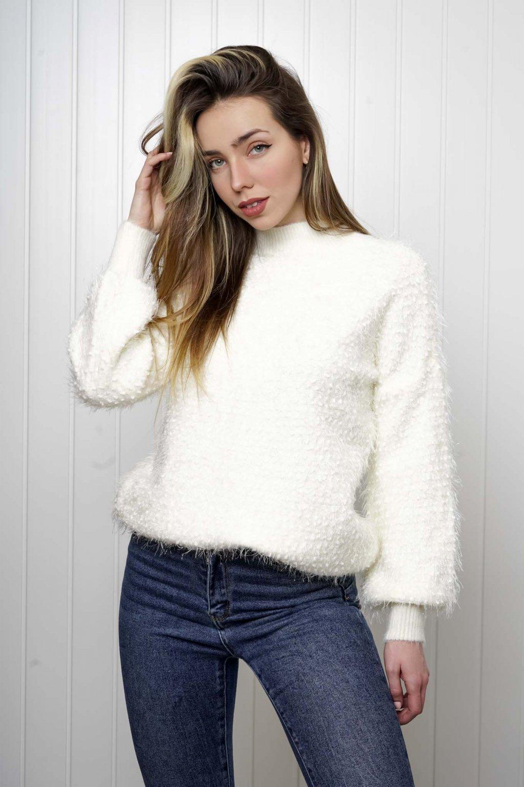 svetrík, pulover, čierny, zlaty, obtiahnutý, vrubkovaný 106