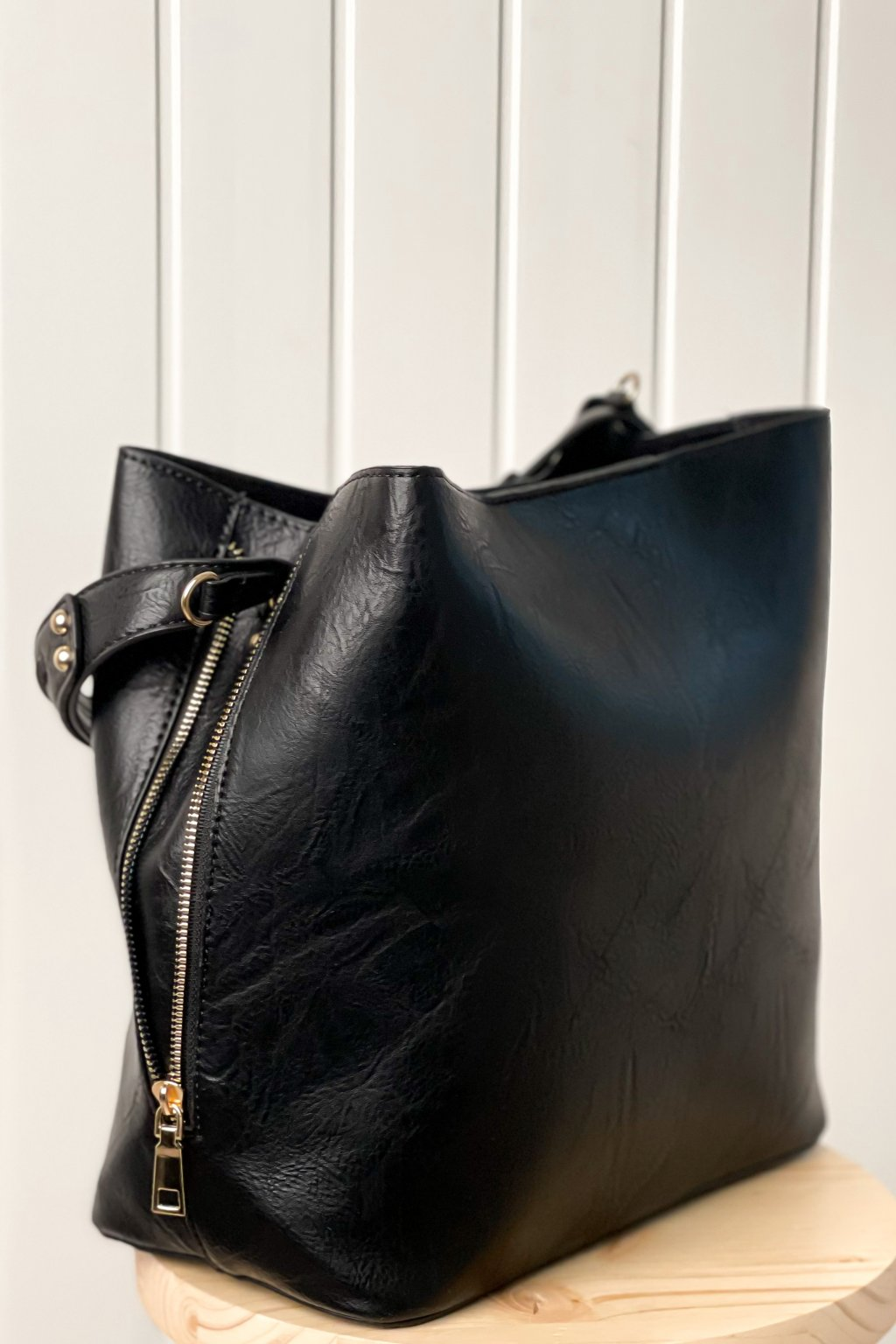 Shopper kabelka čierna