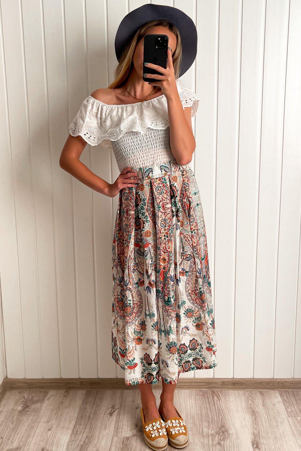 Midi sukňa