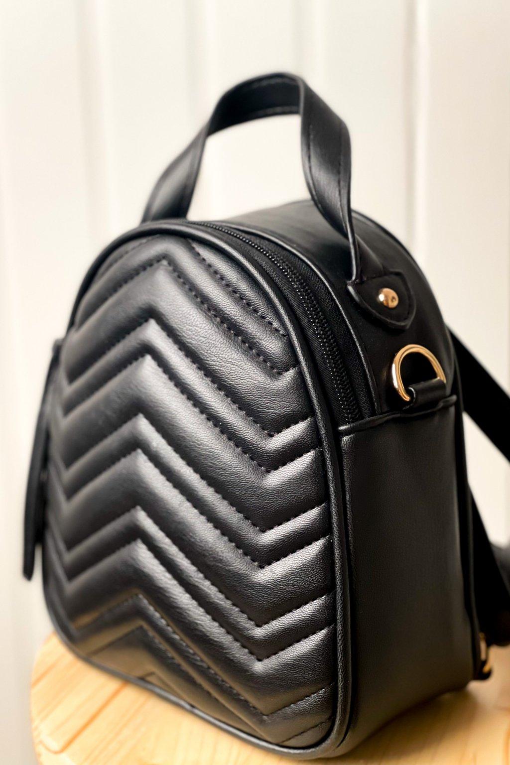 Čierny mini ruksačik