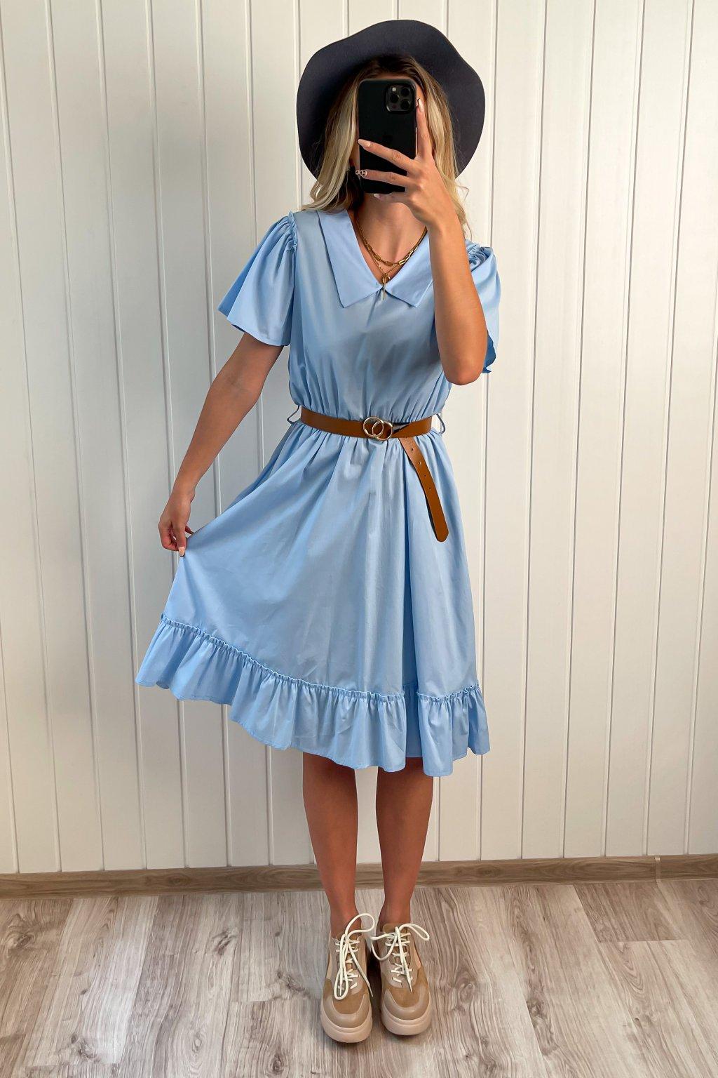 Bavlnené šaty modré