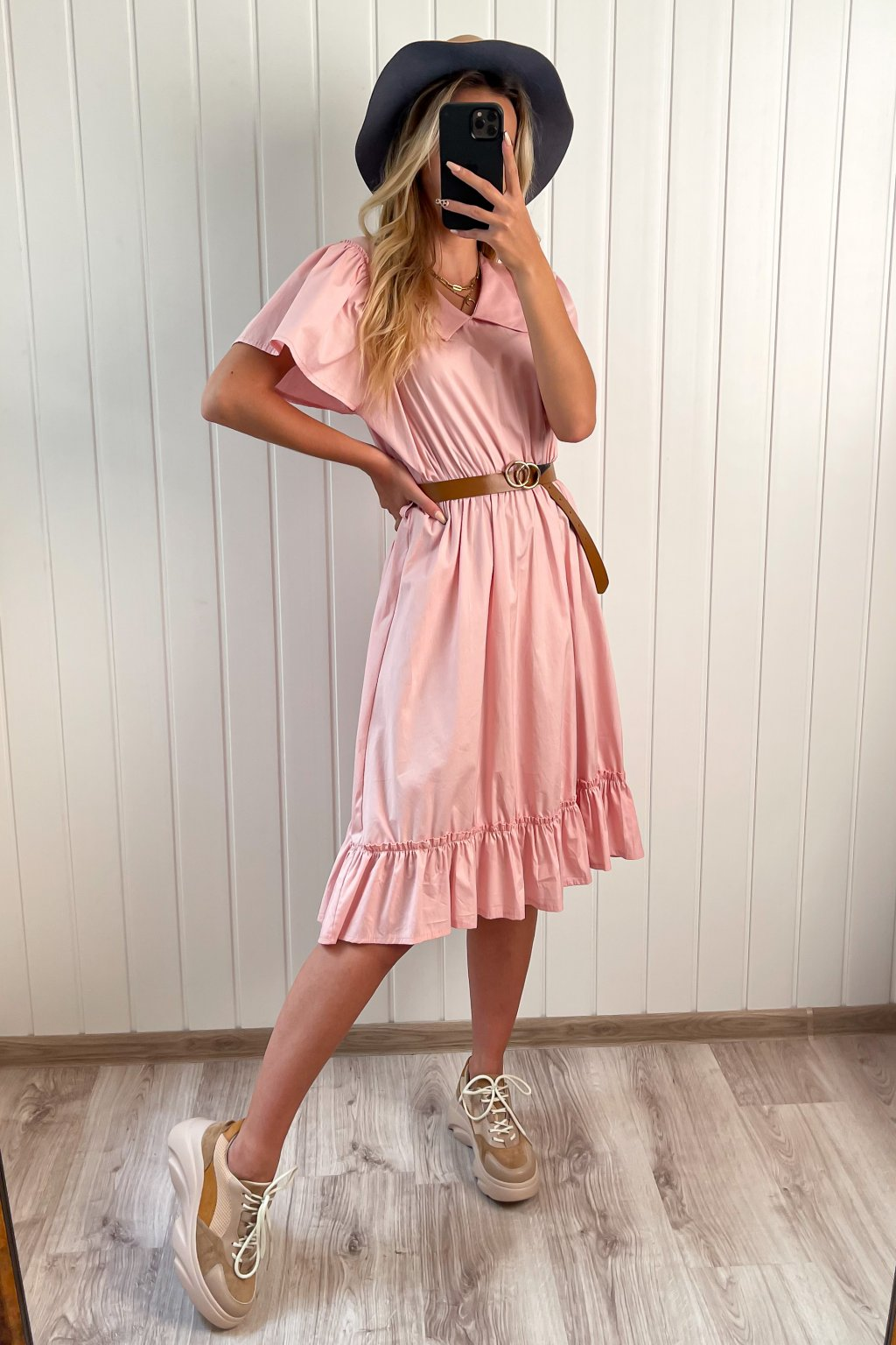 Bavlnené šaty ružové