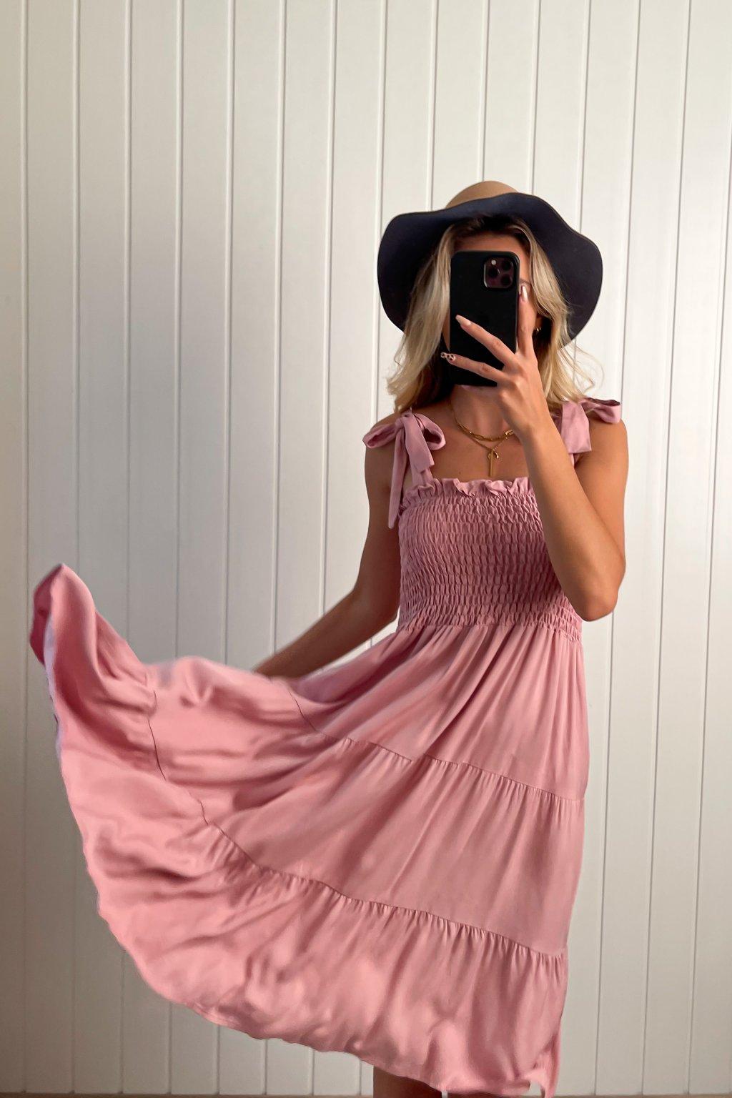 Bavlnené šaty s mašľami
