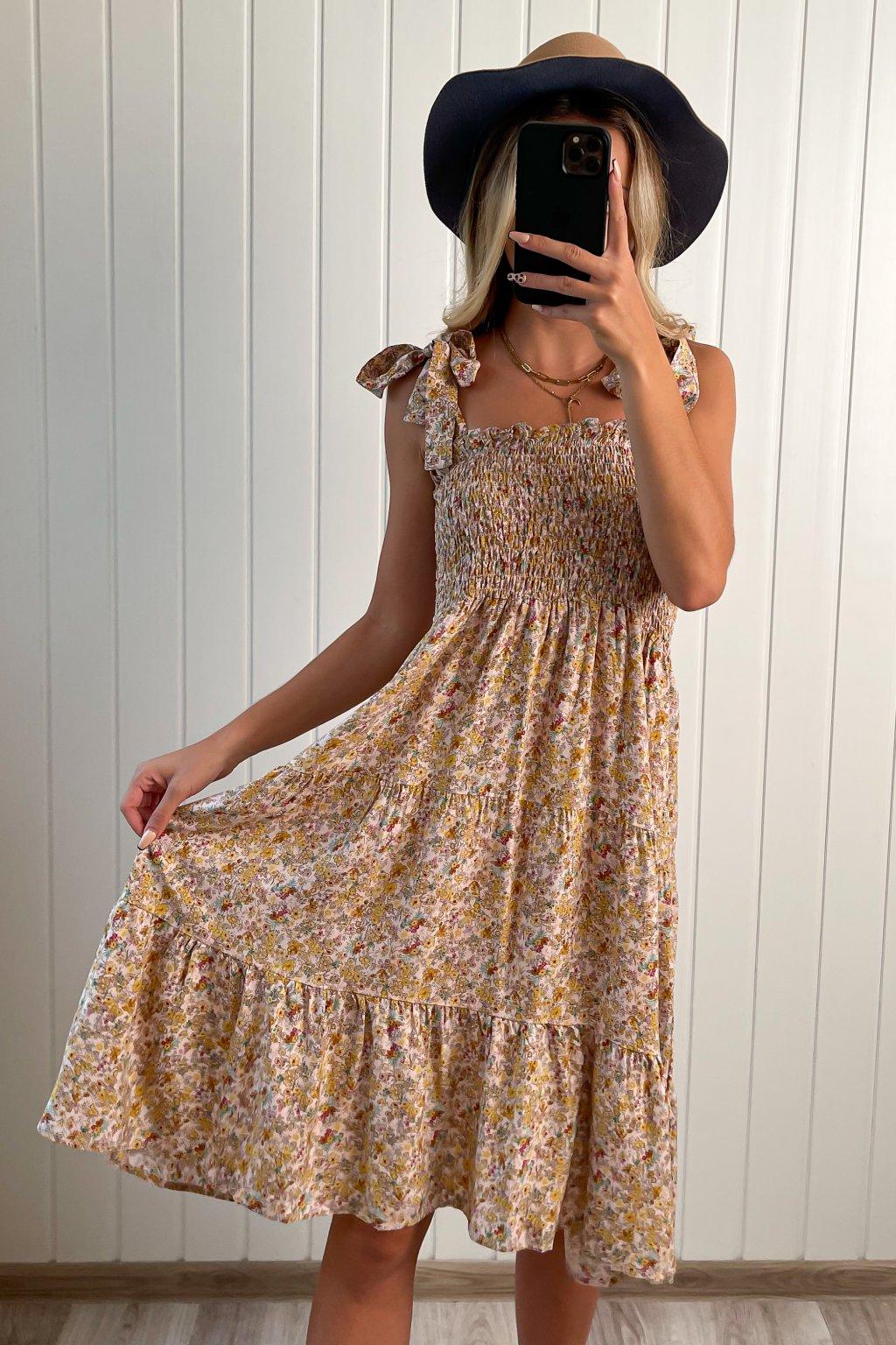 Bavlnene šaty s mašľami