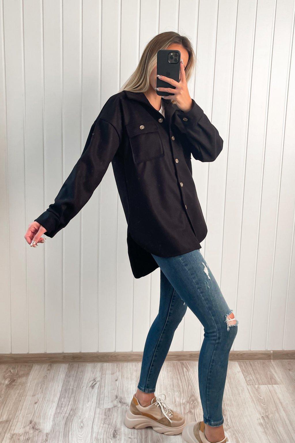 Vrchná košeľa čierna