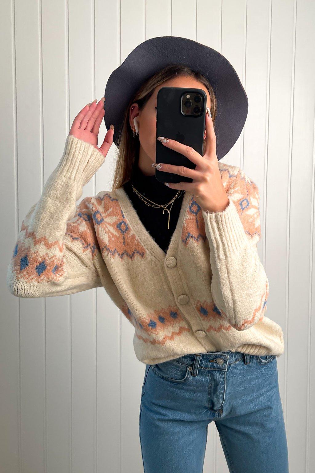 Vintage sveter na zapínanie