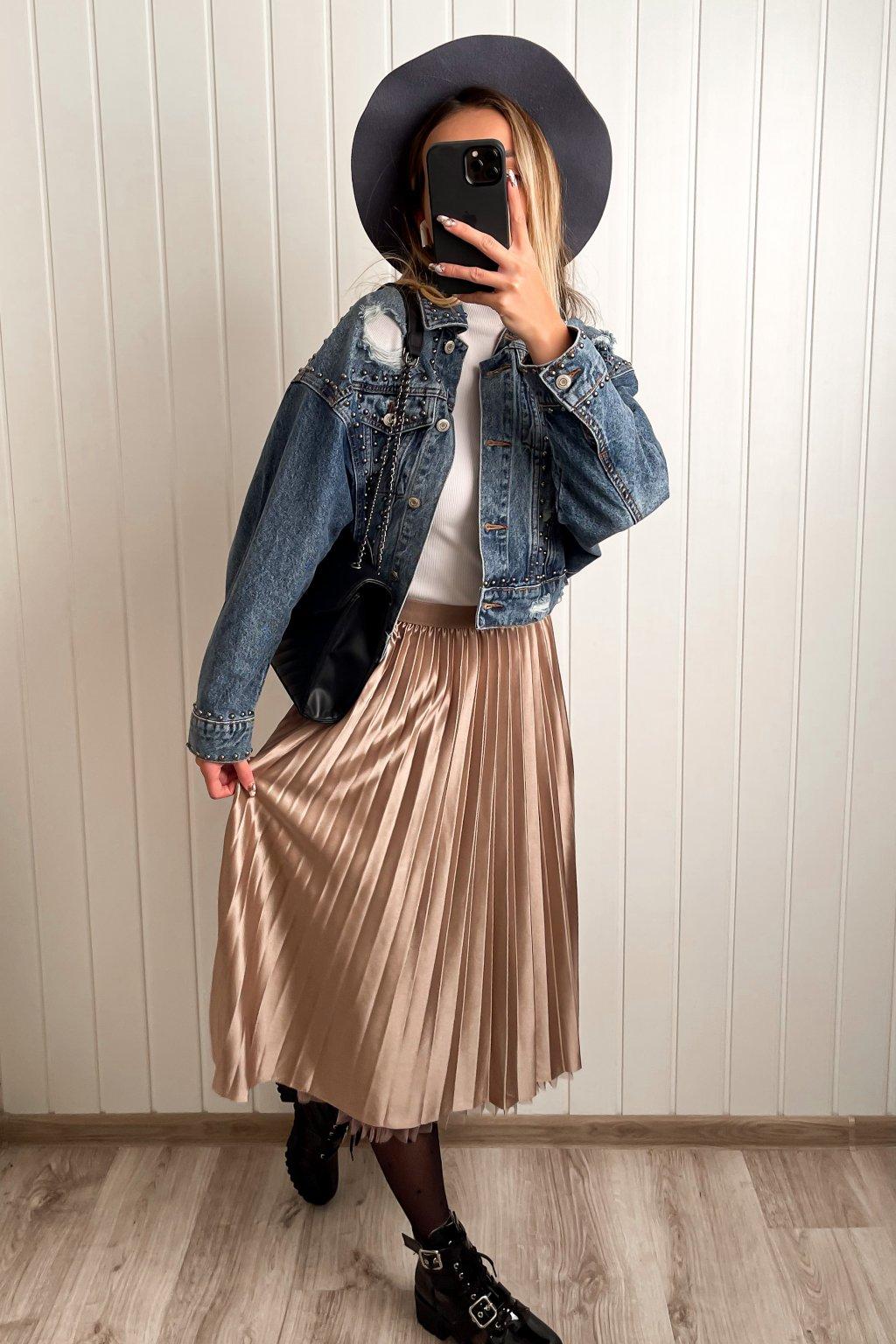 Obojstranná midi sukňa