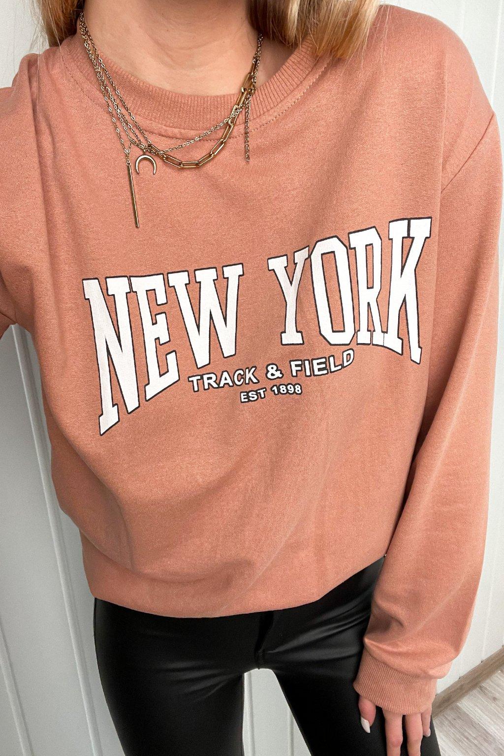 """Tenká mikinka s nápisom """"New York"""""""
