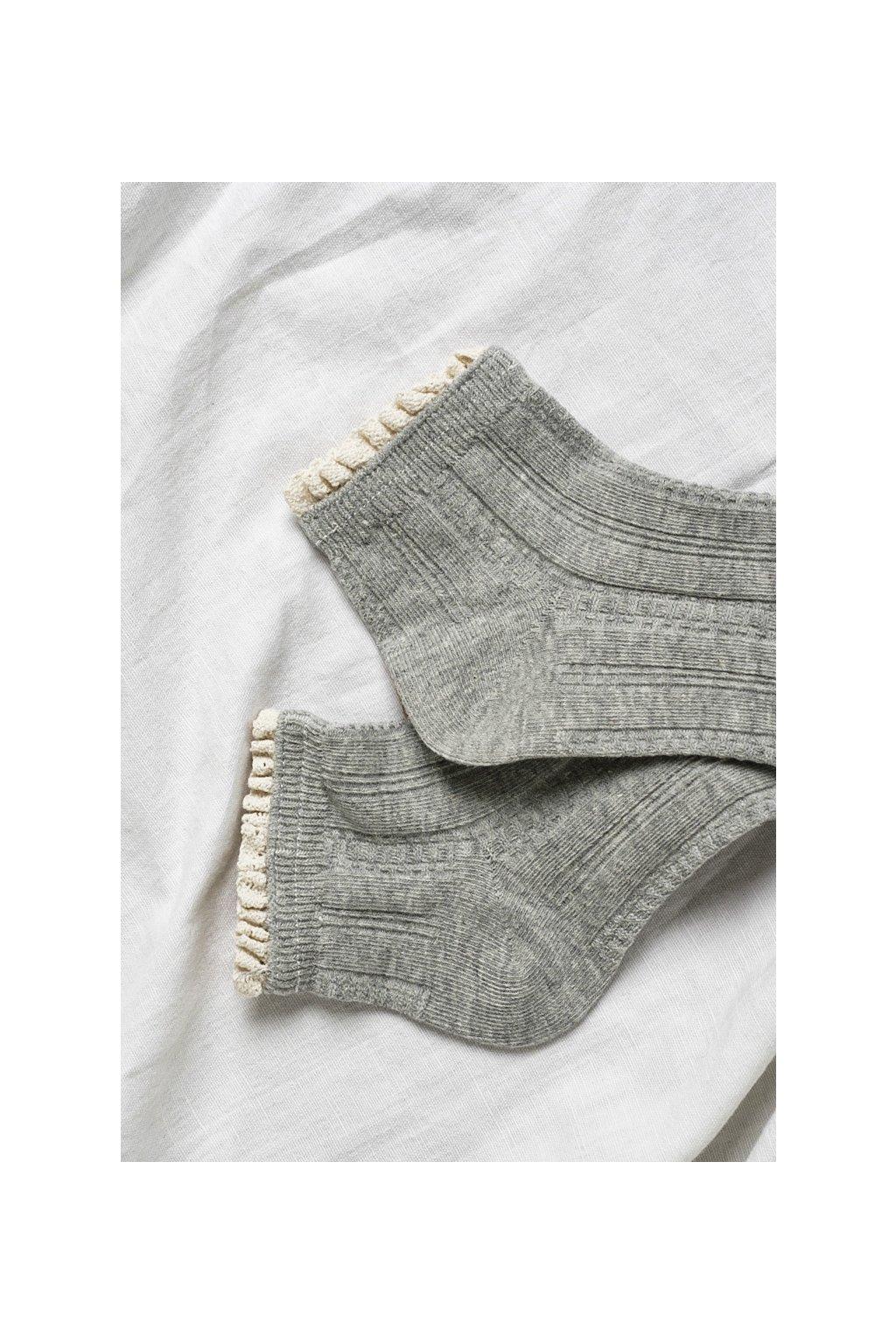 Ponožky sivé 1pár