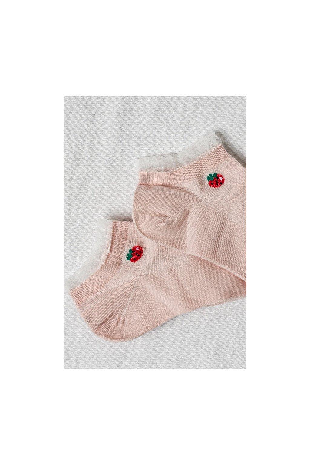 Ponožky ukončené týlom ružové