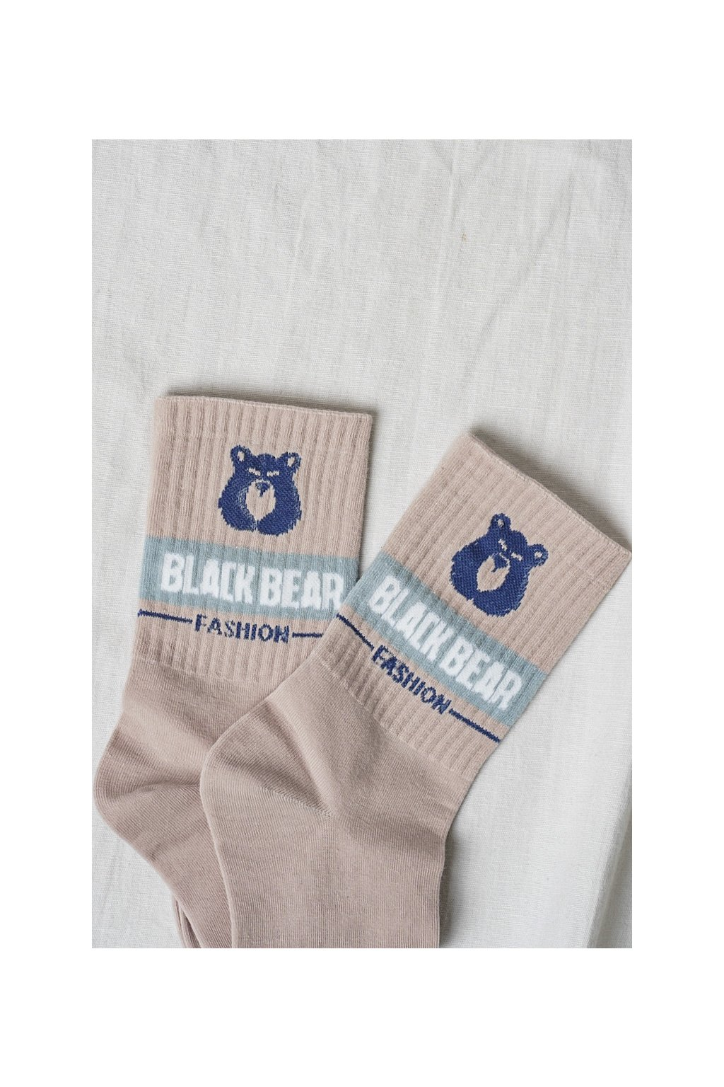 Vysoké bavlnené ponožky s motívom ružové