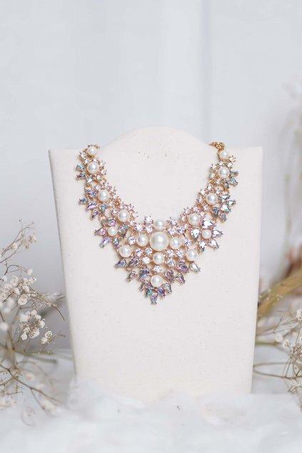 náhrdelník, spoločenský, bežný deň, kamienkový, farebný, čierny, strieborný, zelený, cyklamenévy, náhrdelník, bižuteria, šperk, šperky, ples, stužková, svadba, 102