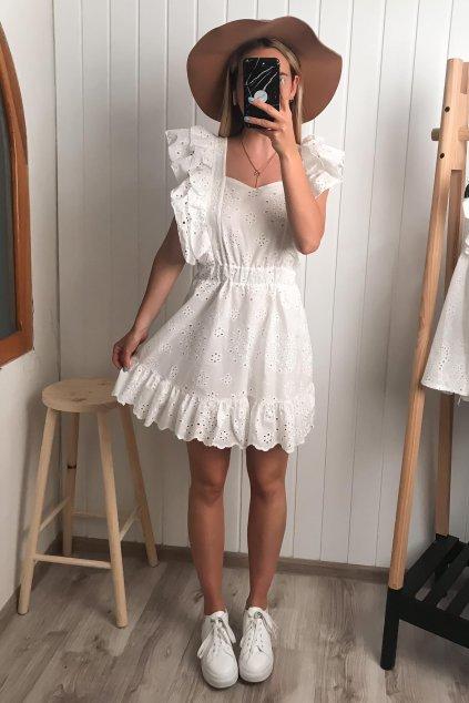 Letné šaty z bielej madeiry, vyšívané šaty, biele šaty, popolnočné šaty, volánikové šaty, cribs, bardejov, prešov, Hlavná 120 prešov (1)