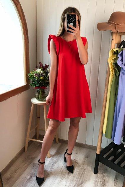 červené šaty s volánikom, spoločenské, elegantné, letné šaty, volánikové šaty, cribs, bardejov, prešov (1)