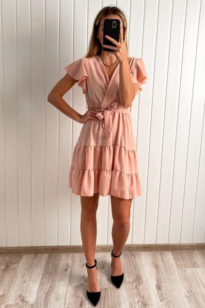 Ružové padavé šaty