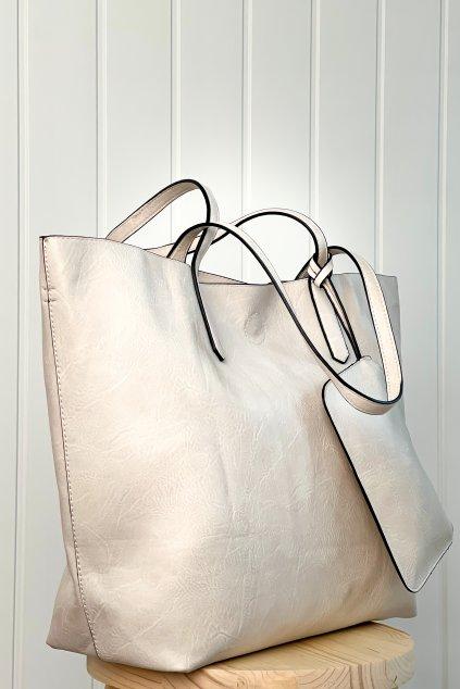 Shopper kabelka béžová