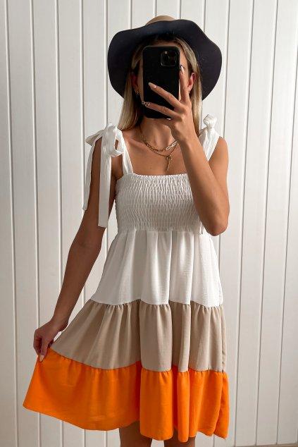 Farebné šaty s mašľami
