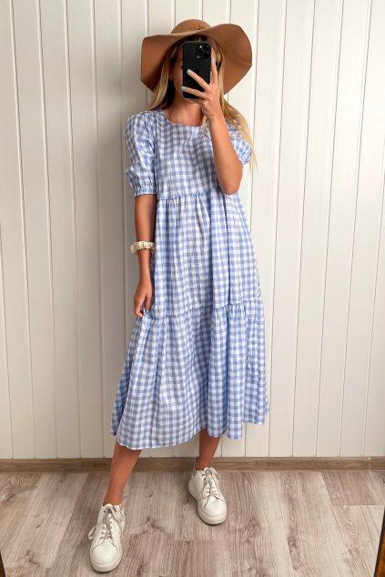 Modro- biele oversize šaty