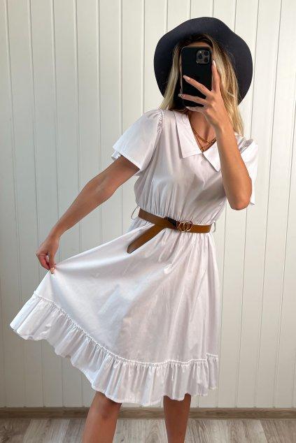 Bavlnené šaty biele