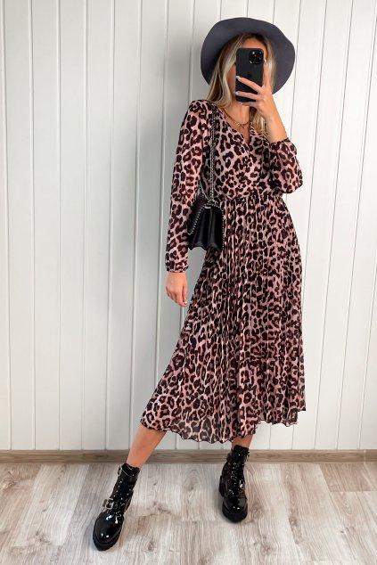 Šaty s plisovanou sukňou leo