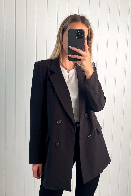 Oversize sako čierne