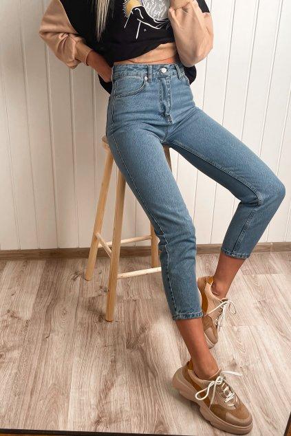 Mom jeans s vysokým pásom