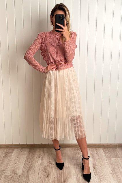 Tylová sukňa na gumičku