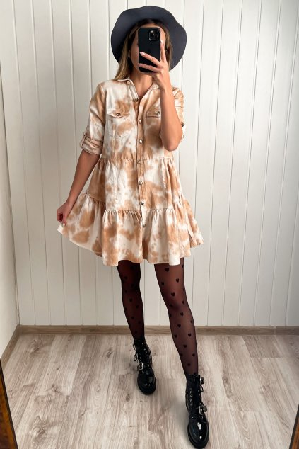 Rifľové košeľové šaty