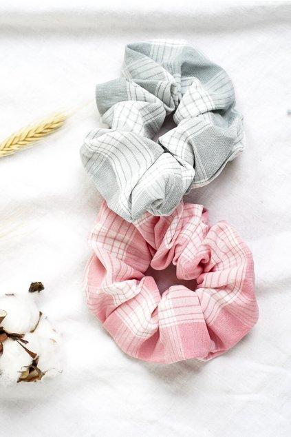 Scrunchies vzorované  gumičky 2ks