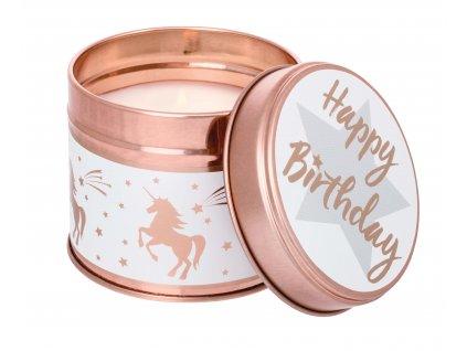 Happy Birthday svicka vsechno nejlepsi narozeninova svicka CrisCalm Stoneglow plechova