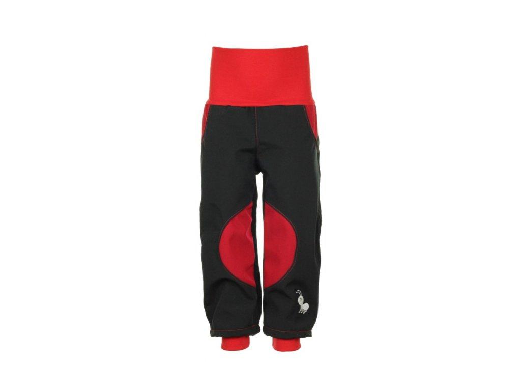 Zateplené softshellové kalhoty Červené