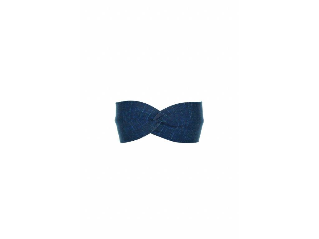 Dětská čelenka Modrá s mřížkou