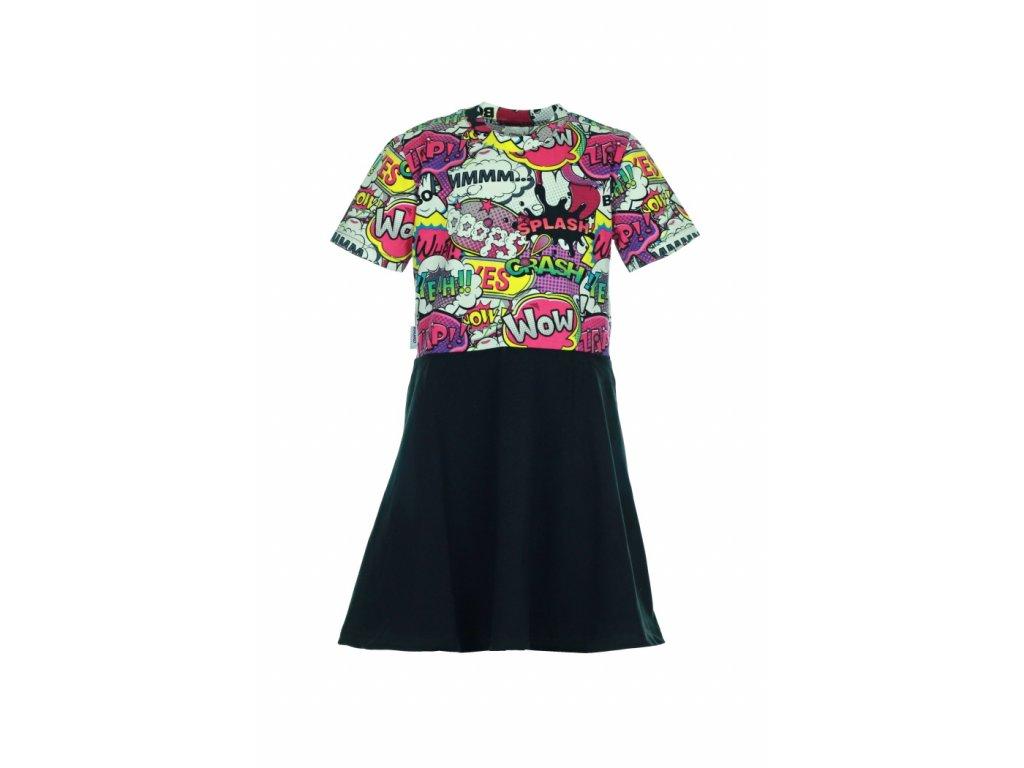 Dětské šaty Růžový komiks vel. 74/80