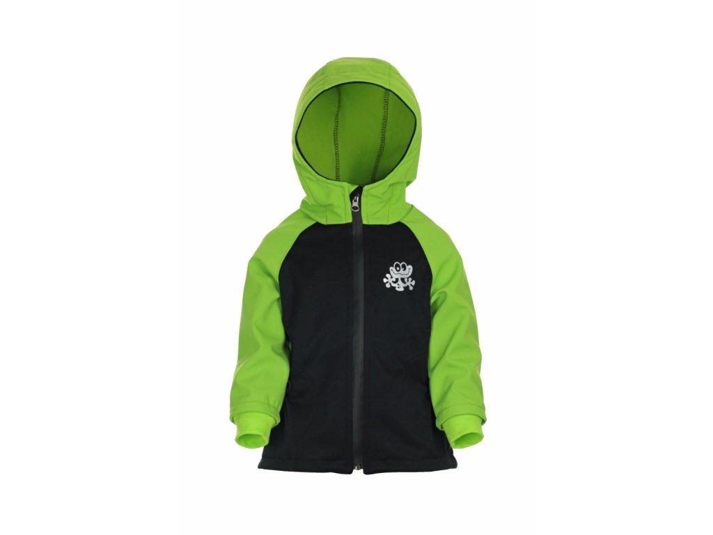 Zateplená softshellová bunda Zelená