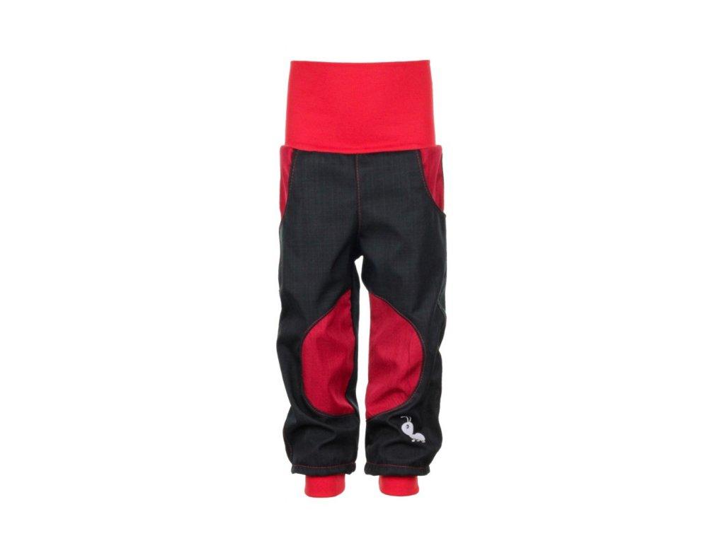 Dětské softshellové kalhoty Černo-červené II