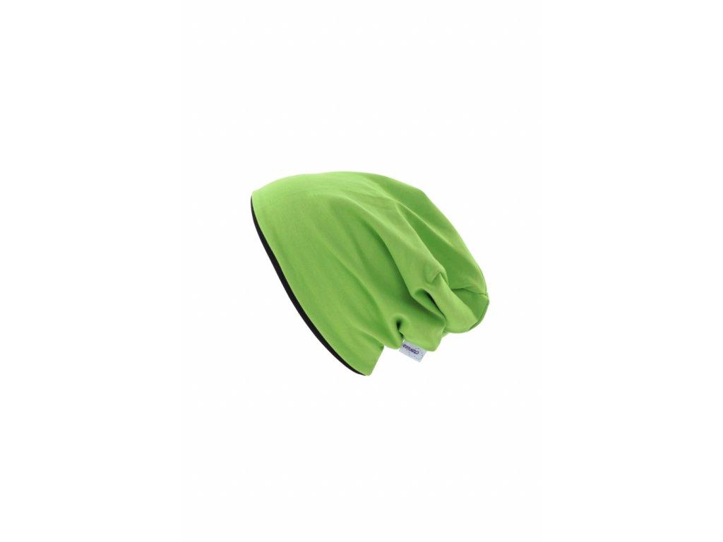 Dětská dvouvrstvá čepice Zelená