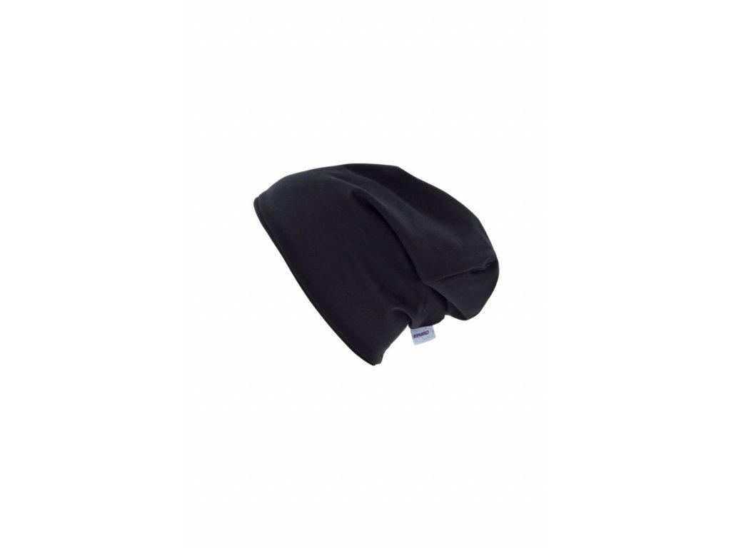 Dětská dvouvrstvá čepice Černá