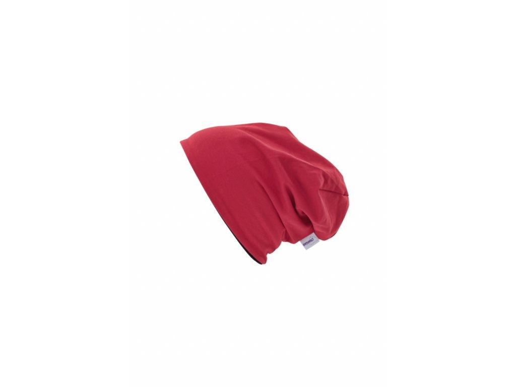 Dětská dvouvrstvá čepice Červená