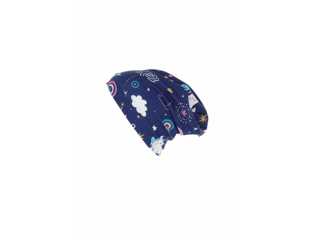 Dětská jednovrstvá čepice Jednorožec