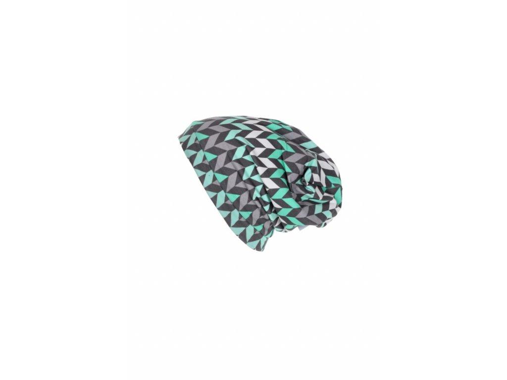Dětská jednovrstvá čepice Cik-cak šedý vel. 40-42 cm