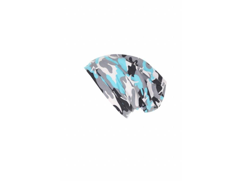 Jednovrstvá čepice Modrý maskáč